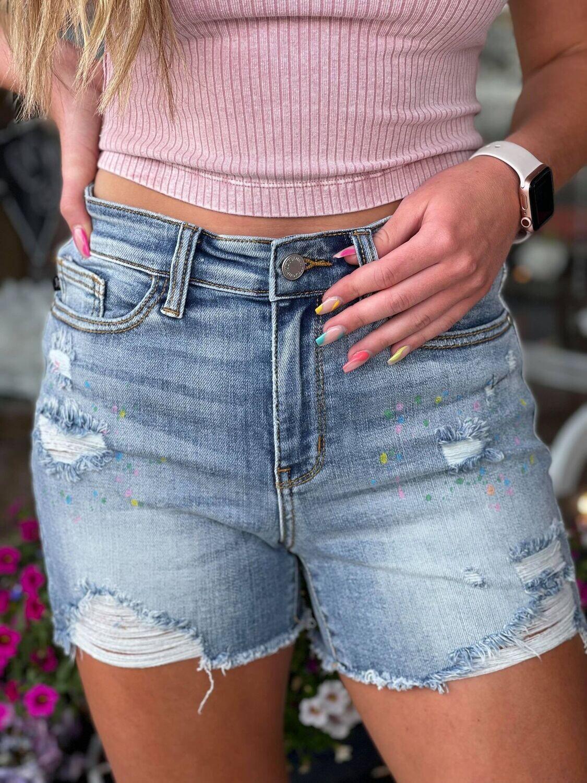 215204 Paint Splash Shorts
