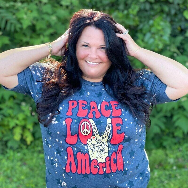 Peace Love America Tee