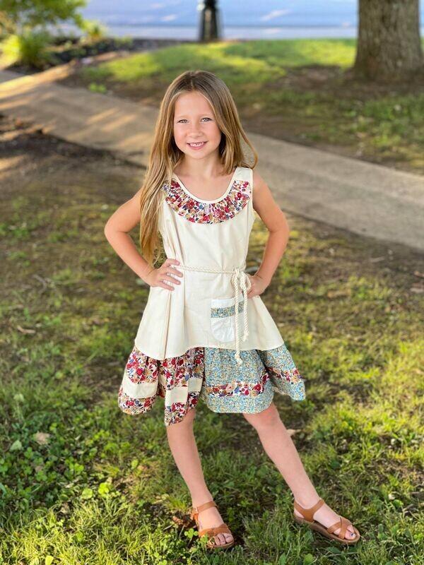 878 Vintage Patchwork Dress