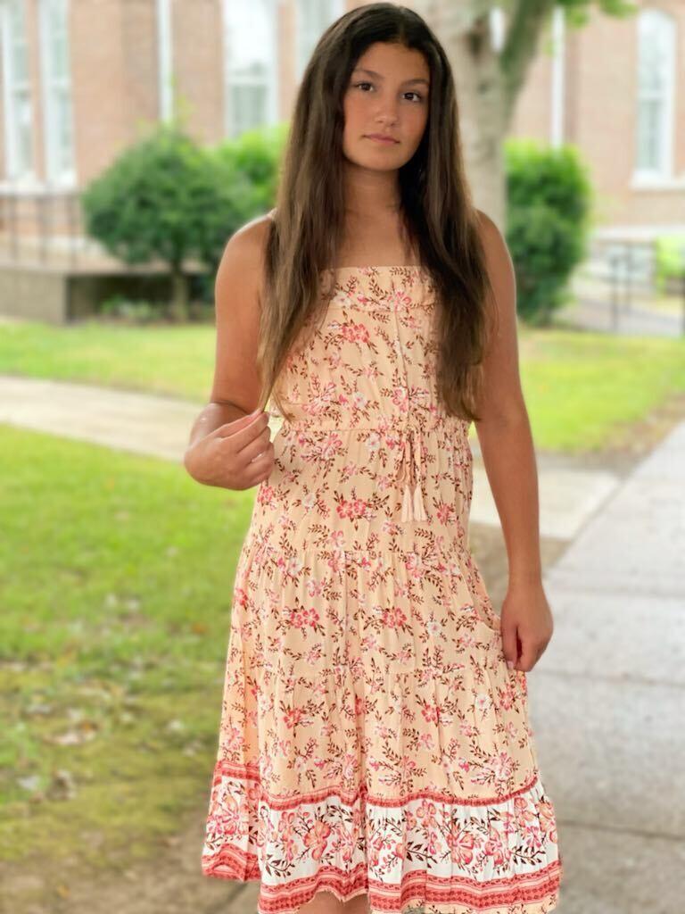 G92521 Floral Blush Dress
