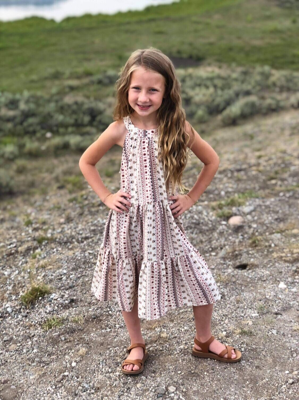 32584 Stripe Halter Dress
