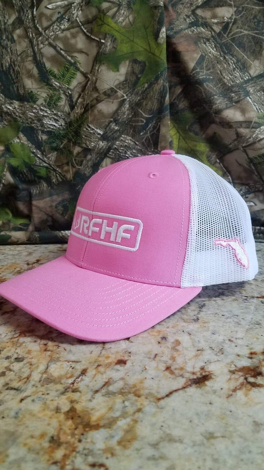 Pink and White Snapback
