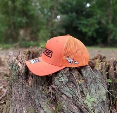 All orange dog hunter/black logo