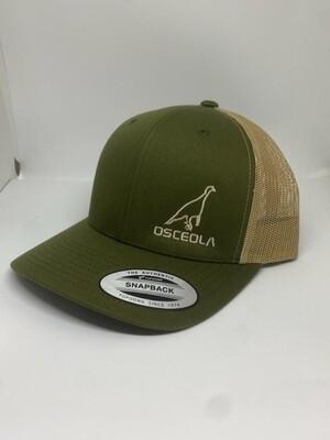 Richardson 112 green /khaki/khaki Osceola turkey logo