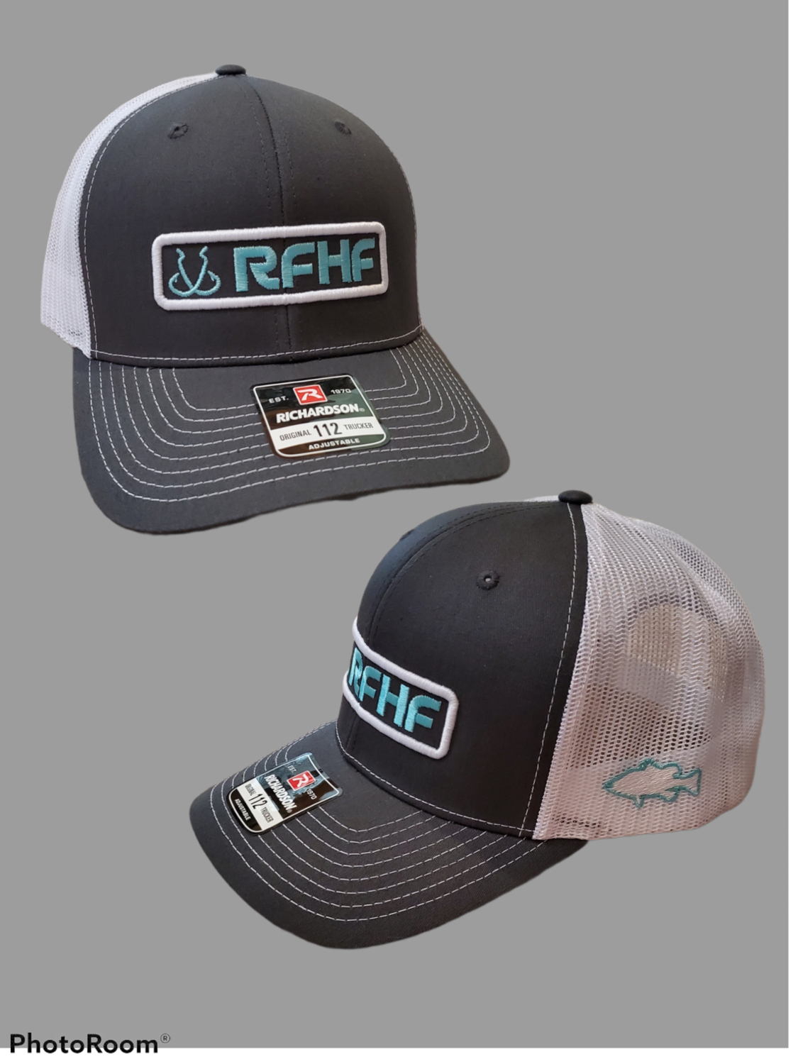 Charcoal/white/teal/bass