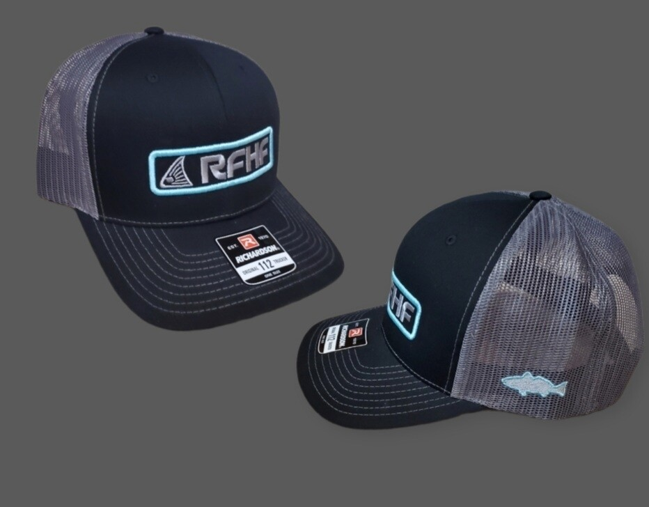 Black and grey with teal accent Snapback