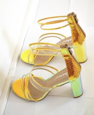 Round Toe Heels Sandals