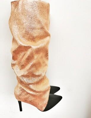 Gold Heel Boots