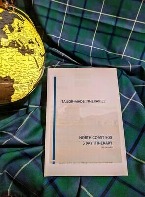 North Coast 500 - 5 Day Itinerary - Hard Copy
