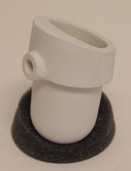 D44 Pt/Pd Fused Silica Casting Crucible