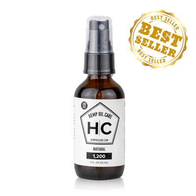 Hemp Oil Care - CBD Oil 2oz (1200mg CBD) 100% THC FREE!!!