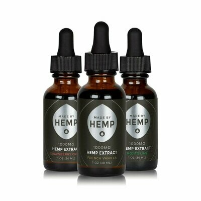 Made by Hemp – Hemp Extract Tincture (1oz, 1000mg CBD)