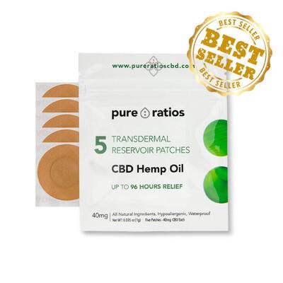 Pure Ratios – CBD Patch (40mg CBD) Up to 96 Hour Usage