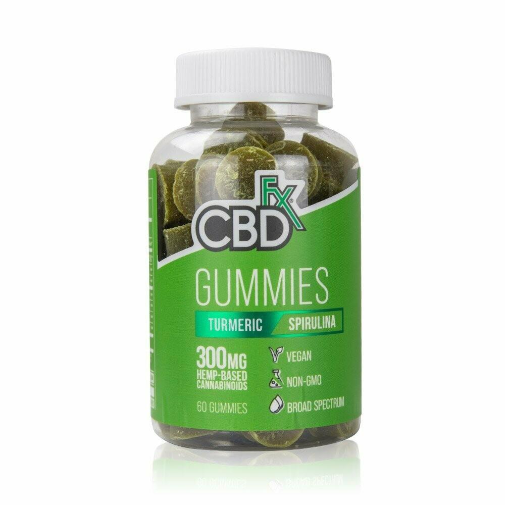 CBDfx – Turmeric & Spirulina Gummies 60 Ct (5mg CBD/ea)