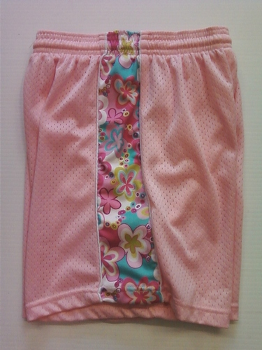 Light Pink Flowered Ribbon Shorts