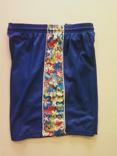 Royal Blue Flowered Ribbon Shorts