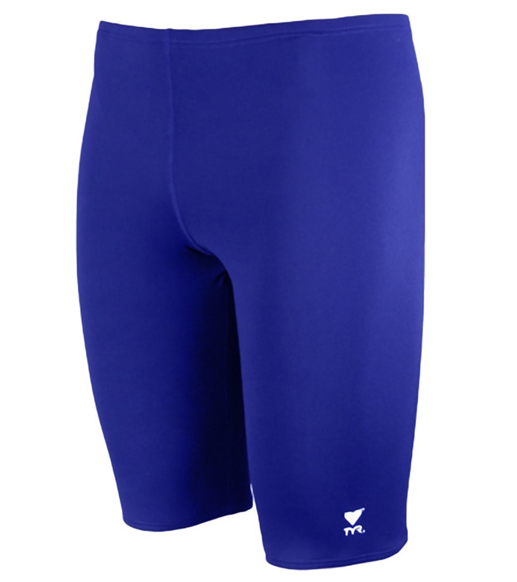 TYR Royal Durafast Elite Solid Jammer with Screenprinted Logo