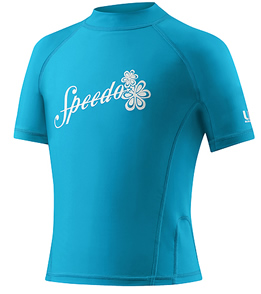 Speedo Girl's Short Sleeve Rashguard UV50