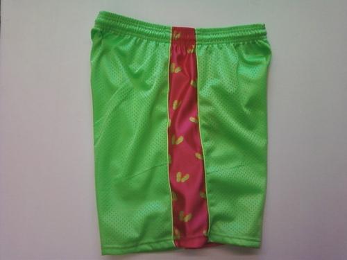 Lime Green Sandals Ribbon Shorts