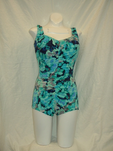 Maxine Pointilissm Posey Shirred Front 1pc