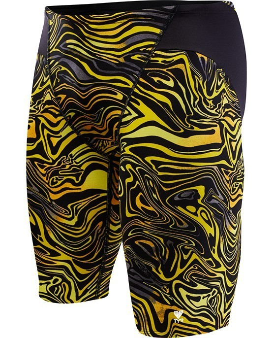 TYR Black/Gold Heat Wave Vault Jammer Swimsuit