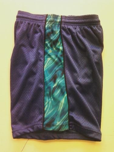 Blue Tie Dye Ribbon Shorts