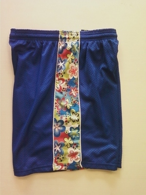 Royal Blue Flowered Ribbon Shorts
