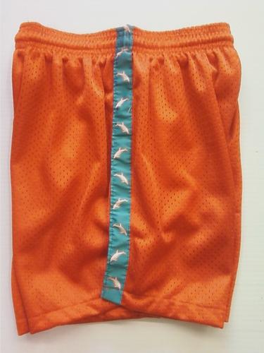Orange Dolphin Ribbon Shorts