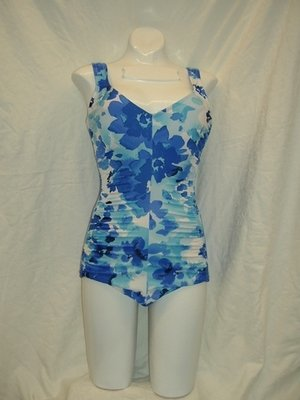 Maxine Floral Lagoon Shirred Side 1pc