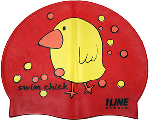 1Line Sports Swim Chick Silicone Swim Cap