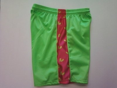Lime Green Sandals Ribbon Shorts
