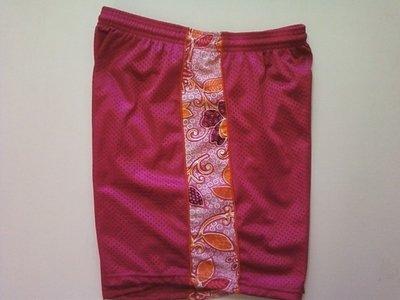 Fuschia Semi Flowered Ribbon Shorts