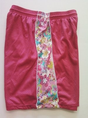Fuschia Flowered Ribbon Shorts