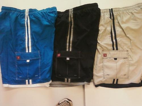 Triangle Men's Board Shorts With Side Stripe