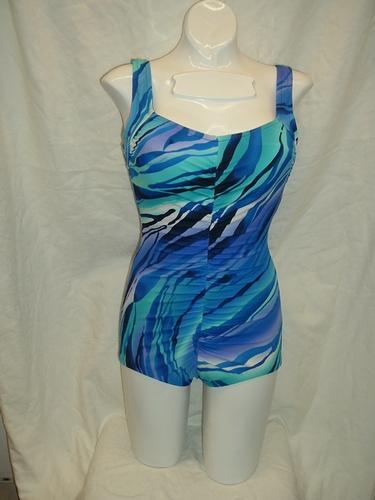 Maxine Jungle Stripe Shirred Front 1pc
