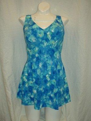 Maxine Tie Dye Floral Empire Swimdress 1pc