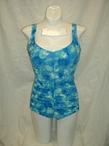 Maxine Tie Dye Floral Shirred Side 1pc