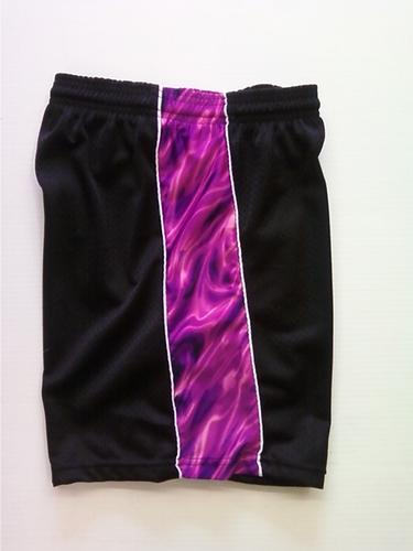 Black/Purple Tie Dye Ribbon Shorts
