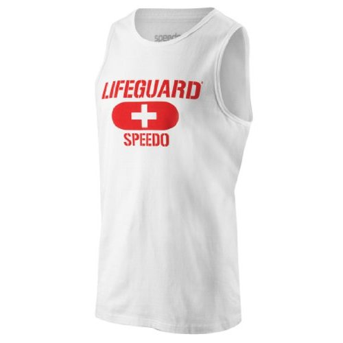 Speedo Lifeguard White Tank Top
