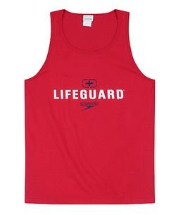 Speedo Lifeguard Red Tank Top