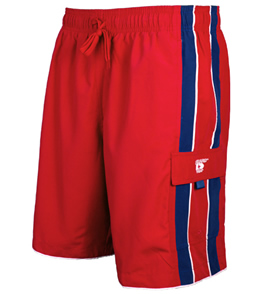 Speedo Lifeguard Red Piped Shorts