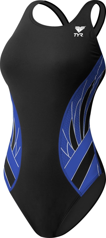 TYR Black/Blue Phoenix Maxfit One Piece Swimsuit