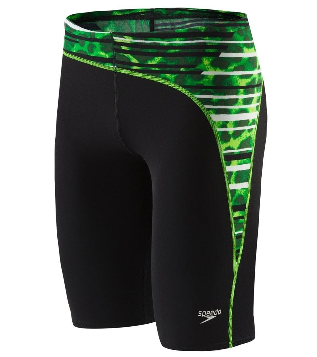 Speedo Green PowerFLEX Eco Got You Men's Jammer Swimsuit