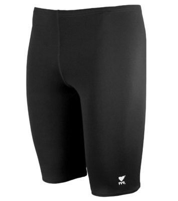 TYR Black One Solid Jammer with Screenprinted Logo