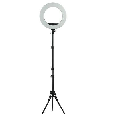 Кольцевая светодиодная лампа диаметр 45 см со штативом и сумкой - чехлом для профессиональной съемки
