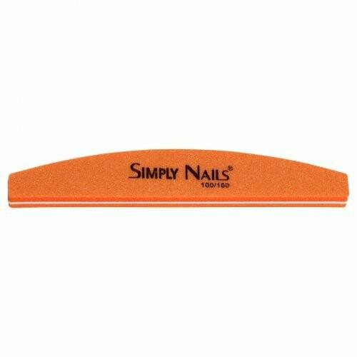 Пилка для ногтей 100/180 Simply Nails оранжевая