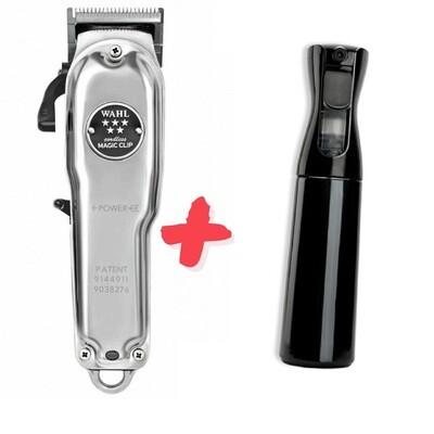 Машинка для стрижки Wahl Magic Clip Cordless Metal 8509-016 + Пульверизатор мелкодисперсный с задержкой распыления черный