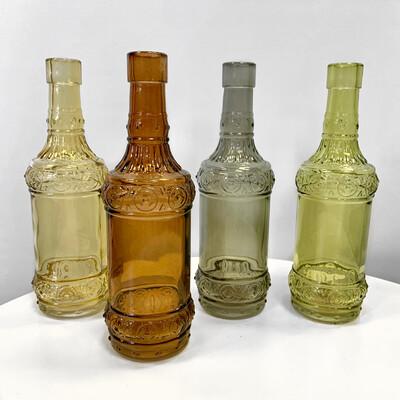 Стеклянные декоративные бутылочки