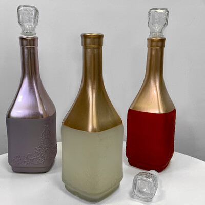Вазы-бутылочки стеклянные