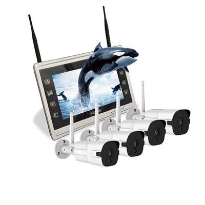 WIFI-4 channel IP surveillance cameras